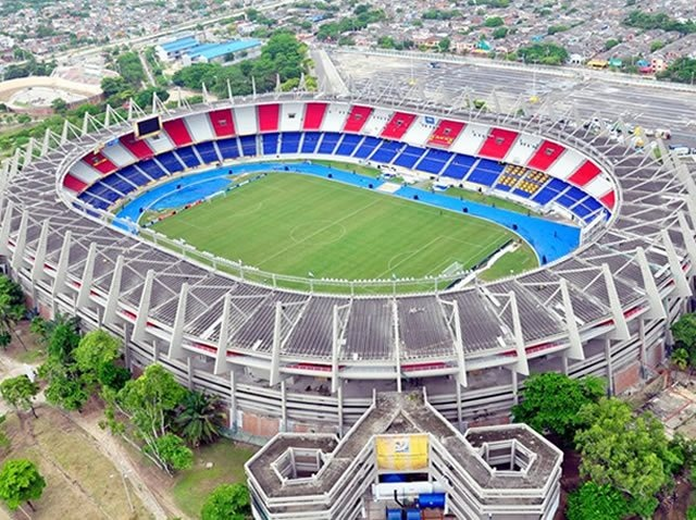 """""""Estadio Metropolitano Roberto Meléndez"""". It is located in the city of Barranquilla, Colombia. It is the official stadium for the national football team of Colombia. Visit our website: http://www.going2colombia.com/"""