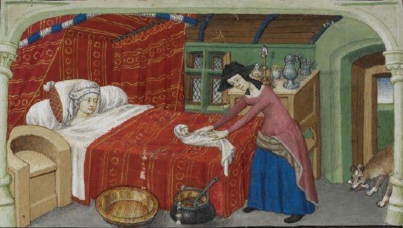 PHOTO: Royal MS. 20 B. XX, f.86v Stillbirth of a Monstrous Child, 1420s