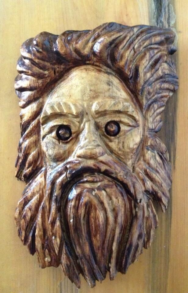 Wood spirit chainsaw carvings by joe luckenbill