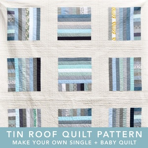 tin roof quilt pattern - love these colours