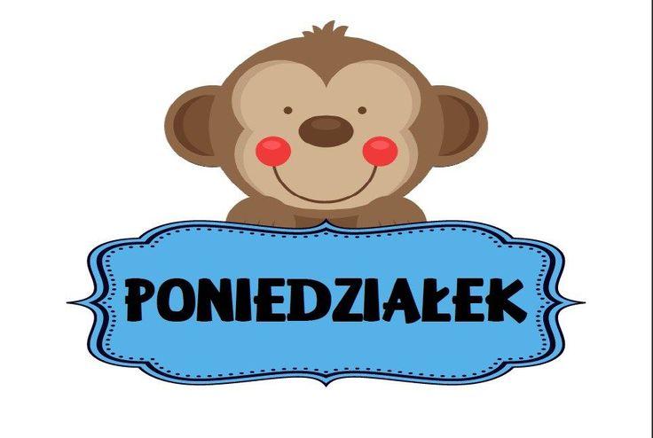 Dni tygodnia - plansze do wydruku w języku polskim i angielskim - Pani Monia