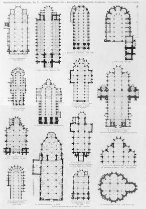 Gothic church floor plans