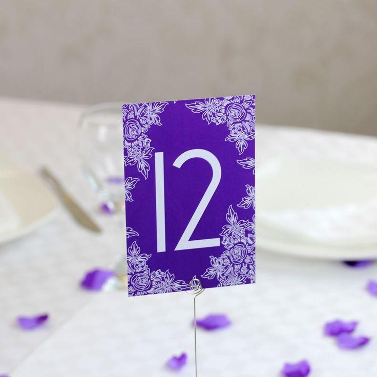Purple Table Number