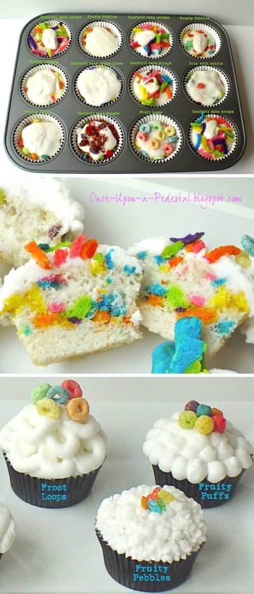 Cereal Cupcakes Food Pix / Recipe by Picture