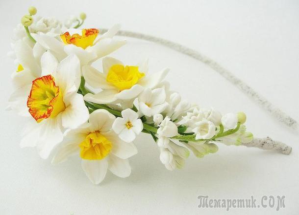 Цветы из полимерной глины: от настоящих не отличишь