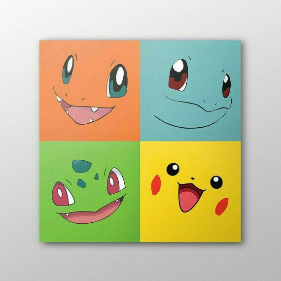 Awe, cute Pokemon wall art.   Looks pretty simple.