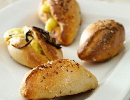 Pirogger med kartoffel/ostefyld