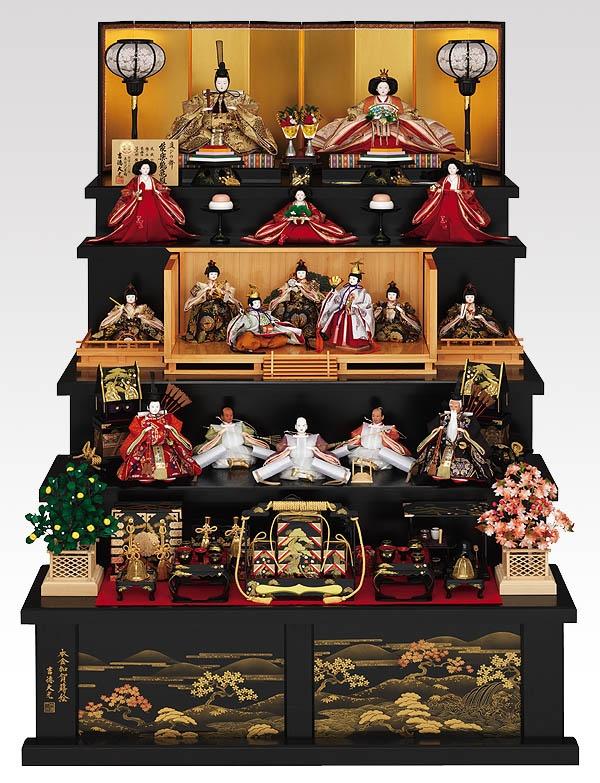 雛人形 March 3rd is Hina-Matsuri, the Doll's Festival for girls. People display a set of dolls and pray for the sound growth of girls in the family.