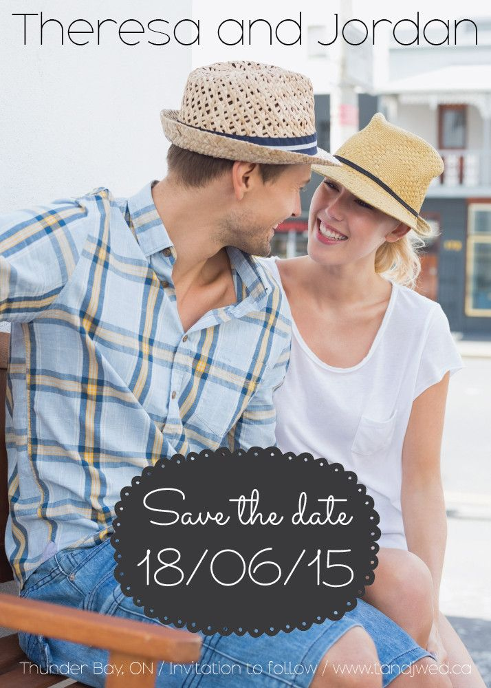 Chalkboard Save the Date Card n// www.ivystripe.com