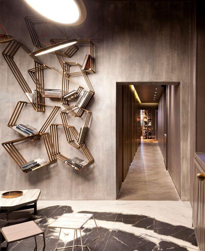 Atelier showroom in milan by henge furniture design for Showroom living room ideas