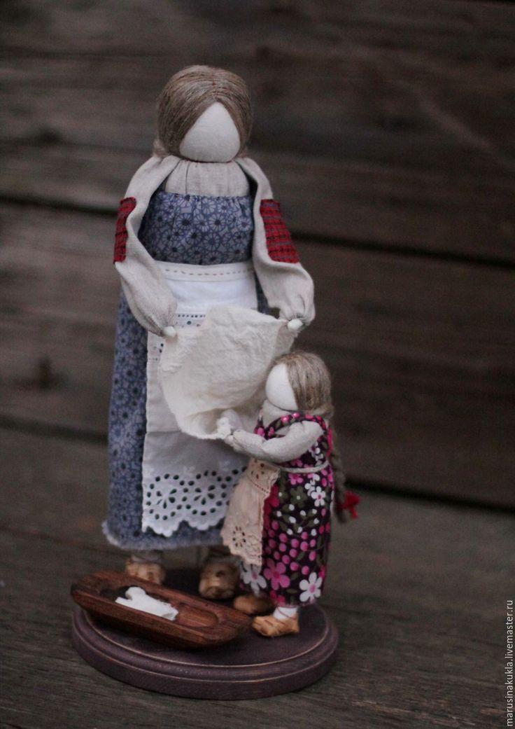 """Купить """"Домашние хлопоты"""" - разноцветный, традиционная кукла, народная кукла, кукла девочка, кукла в подарок"""