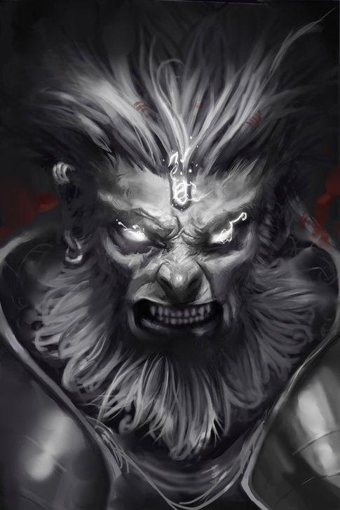 The fiery Hanuman
