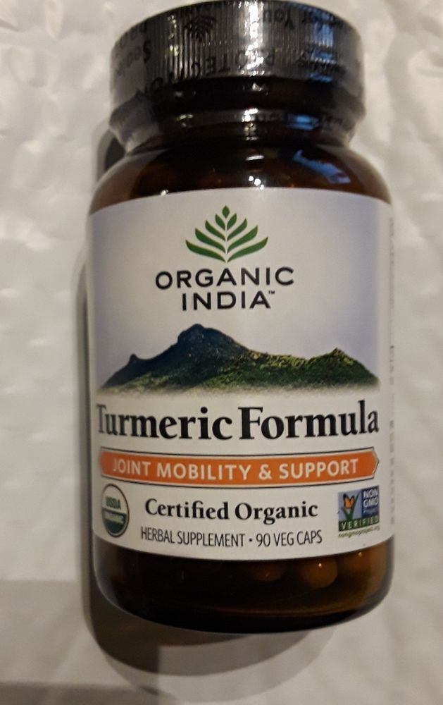 Organic India Turmeric Formula 60 Vegetarian Capsules Dietary