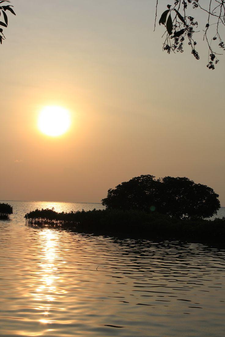 Sunrise attack at Hope island - Thousand Island, Indonesia