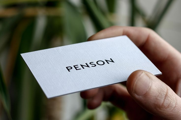 Logotype and triplex business card for interior design firm Penson Group created by She Was Only