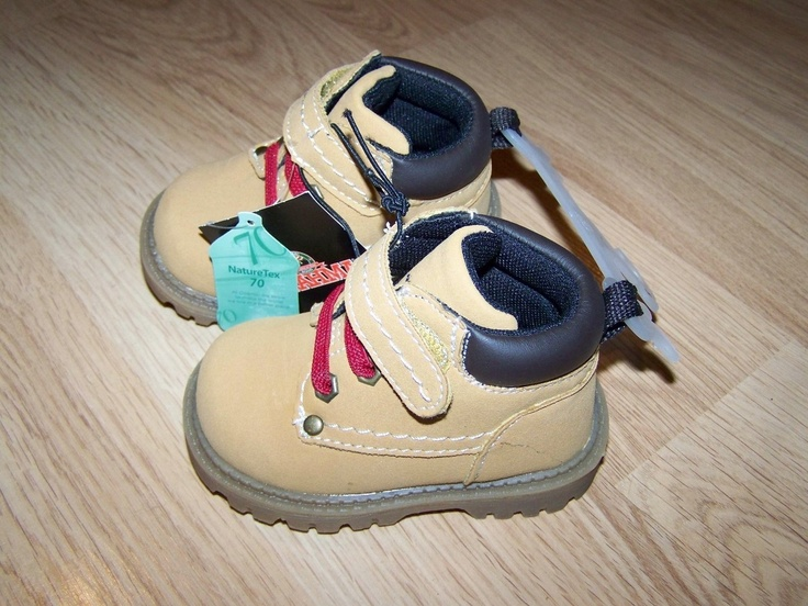 Infant Toddler Boys Size 5 Brahma Hiking Boots Brown Tan