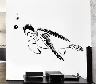 Wall Decal Turtle Marine Ocean Bathroom Decor Vinyl Stickers Art Mural (ig2567)