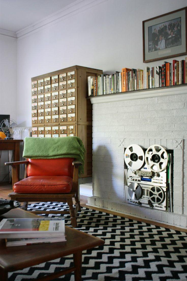 analog fireplace!