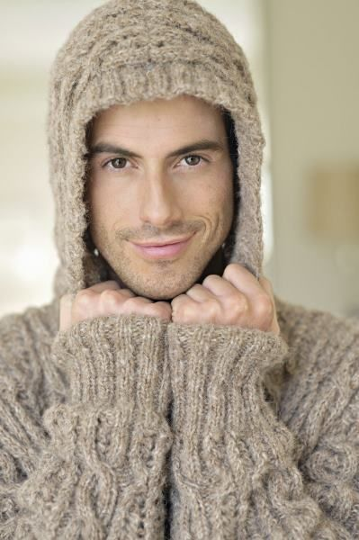 Knitting Pattern Hoodie Mens : Pin by Holly Johnson on Knitting Pinterest