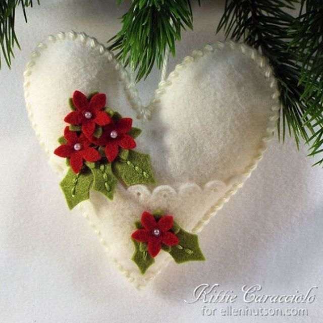 @kittie_kraft whipped up this felt stitched ornament for our blog. This sweet keepsake looks harder to create than it really is and Kittie has lots of great tips sprinkled throughout her post. Check it...(link in bio). #EllenHutsonLLC #EH_InStitches ❤️