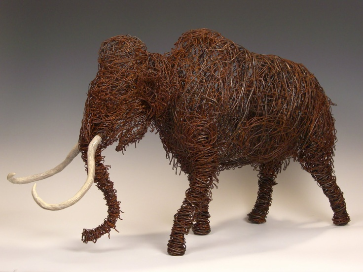 ba52cb1270ba15345eec9c69cf262bde wire art d art 24 best wire art images on pinterest wire art, wire and wire Mammoth Size Diagram at cos-gaming.co