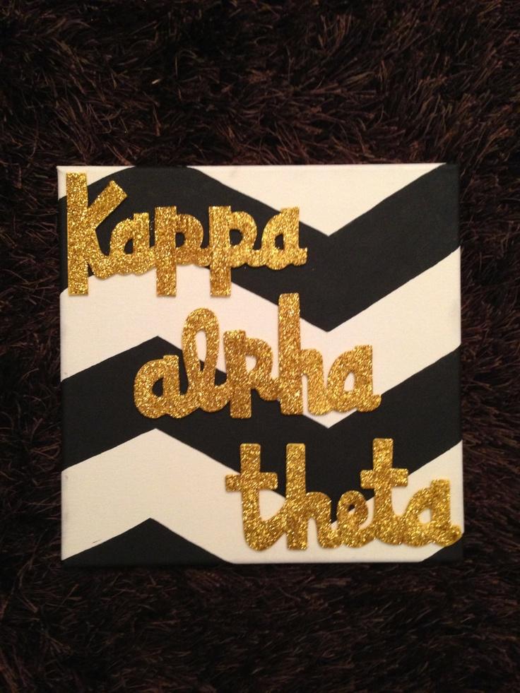 Sorority Sign - Kappa Alpha Theta, Theta. $25.00, via Etsy.