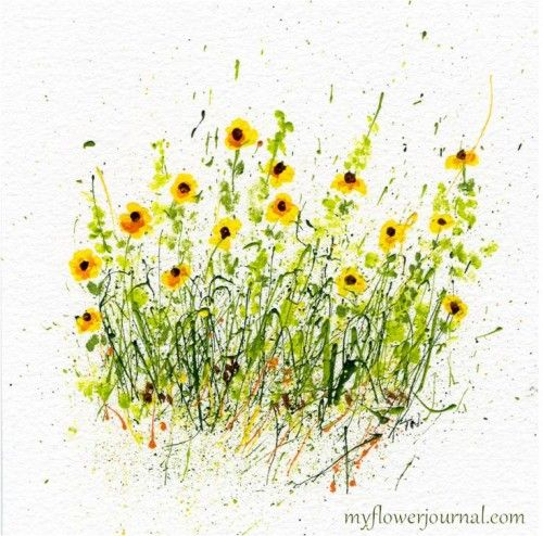 35 best water color and acrylic images on pinterest watercolor splattered paint flowers mightylinksfo