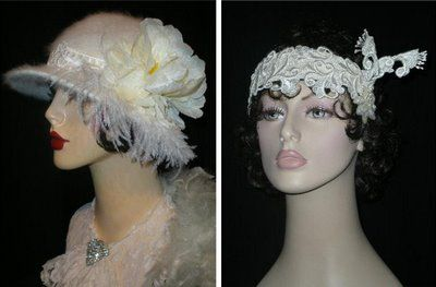 handmade vintage hats by Graceful Butterfly