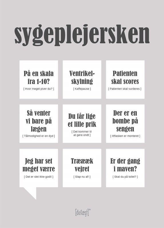 Sygeplejersken A3 poster from Dialægt