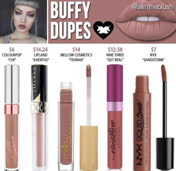 Lime crime liquid lipstick dupes in the shade Buffy // Kayy Dubb