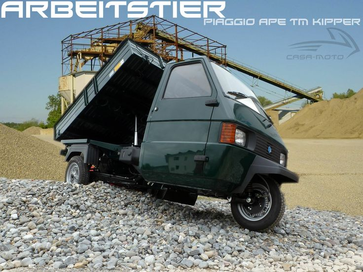 Piaggio Ape TM Kipper - Neufahrzeug #Piaggioape #Piaggio #Ape #TM #Kipper #Neufahrzeuge