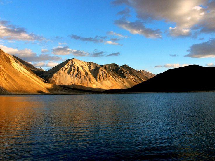 Pangong tso lake in Ladakh, Jammu and Kashmir, India