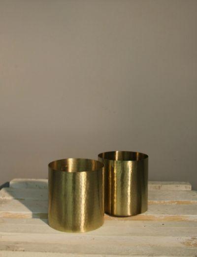 Theelichthouders gouden look - Tealight holders gold look - #WoonTheater