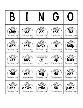 Groundhogs Day Sight Word Bingo Sheets: 5 different Bingo Sheets containing a mixture of pre-primer and primer sight words.
