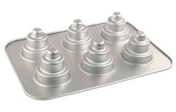 Perfect cake pan for making individual cakes for parties of all sorts.