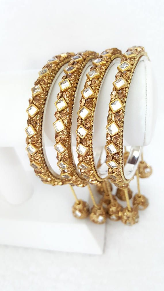 Jewellery & Watches Learned Traditional Ethnic Goldtone 2pc Bangle Set Women Bracelet Indian Party Jewellery Wedding Party Jewellery
