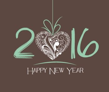 New Year 2016 greeting card