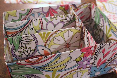 DIY : Recycled Cereal Box Craft Organizer