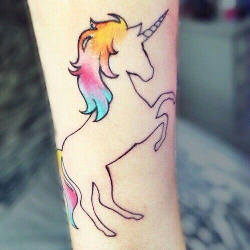 unicorn, tattoo, and colorful εικόνα