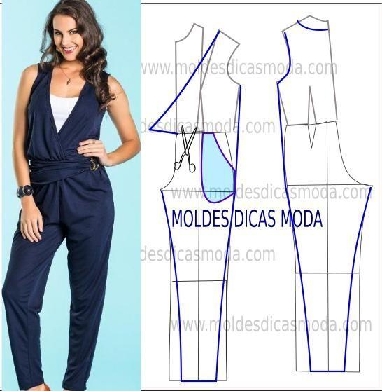 DIY Women's Clothing : Desenhe o molde de macacão azul (base) frente, costas. Observe com atenção a ...  https://diypick.com/fashion/diy-clothes/diy-womens-clothing-desenhe-o-molde-de-macacao-azul-base-frente-costas-observe-com-atencao-a/
