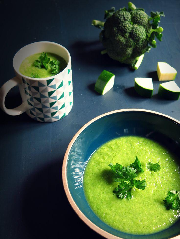 velouté de brocolis et courgettes