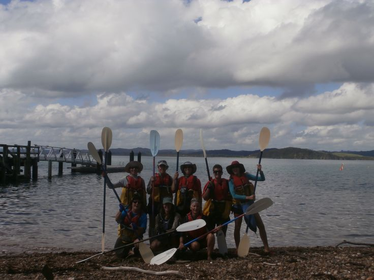 Everyone equipped for our paddle in the wonderful bay of islands.
