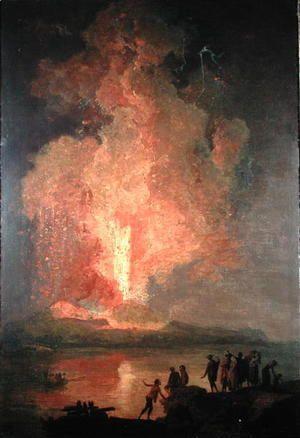 Mount Vesuvius Erupting  Pierre-Jacques Volaire