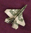 Dollar Bill Airplane from the tooth fairy!