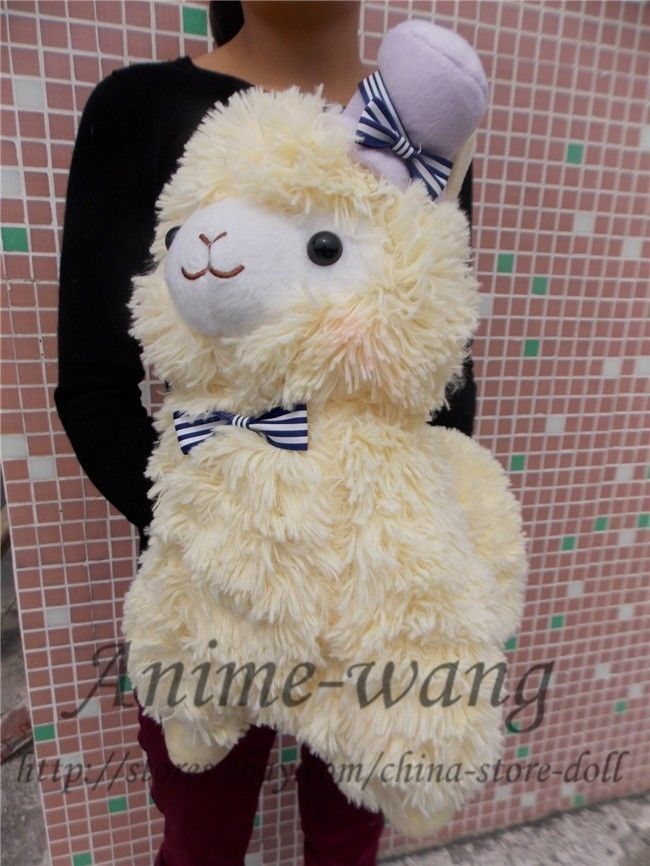 Japan Amuse Arpakasso Alpacasso Alpaca Yellow 14 Plush Toy With