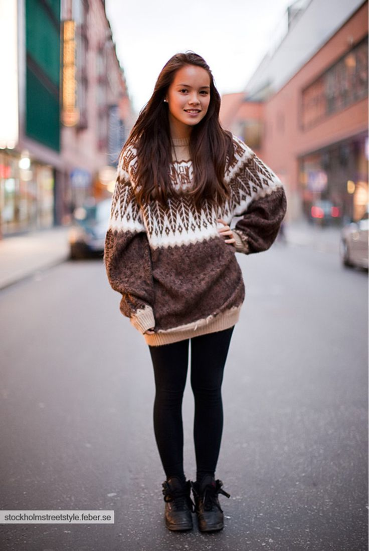31 best Oversized sweater with leggings images on Pinterest ...
