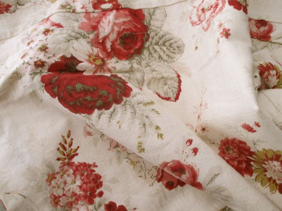 floral Waverly cotton VALANCE roses Garden Room by JunqueDuJour, $19 ...