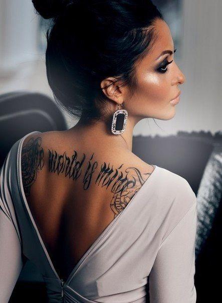 fashion beauty tattoo girl tattoos pinterest