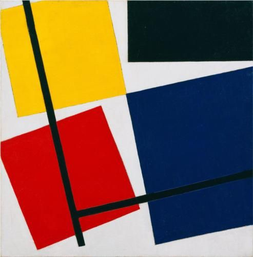 artist - Theo van Doesburg: Simultaneous Counter Composition. 1930 - oil