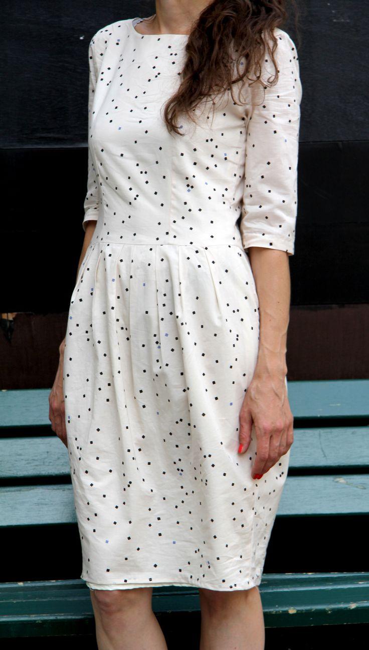 Shine Tanja / @schnittchen.com münchen patterns / Tissu @Atelier Brunette // Jolies bobines
